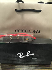 Brand New SXS 5673 Eyeglasses Rx Frame Size 54 Red Ray Ban Authentic Case Women