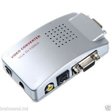 PC Laptop VGA to Video AV TV S-Video box Conversion Converter Adapter VGA to PAL