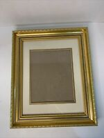"Victorian Photo Frame Gold Gilt Ornate Wall Decor Hanging Holds 8x10"" Picture"