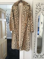 H&M Leopard Print Fur Oversized Coat Size XS BNWT SOLD OUT