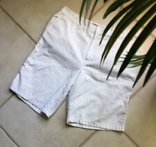 Men's Casual Shorts O'NEILL Size 36 White Pinstripe Poly Blend 4 Pockets