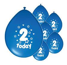 "20 x 2nd Anniversaire Garçon Ballons"" 2 aujourd'hui ""Deuxième Anniversaire Ballons Bleu (PA)"