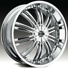 4-NEW 2Crave N-1 17x7.5 4x100/4x114.3 +40mm Chrome Wheels Rims