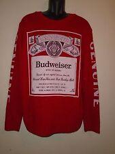 Budweiser Screen printed Junk Food Red Acrylic Crewneck Sweater Men's M NWOT