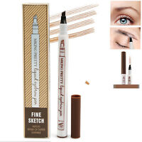 Microblading Tattoo Liquid Eyebrow Ink Pen Fork Tip Thin 3D Makeup Pencil Liner