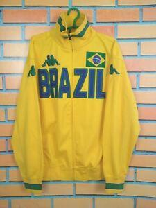 Brazil Jacket Size XL Full Zip Mens Long Sleeve Soccer Football Kappa