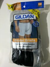 Mens 5 Pack Gildan Boxer Briefs size M (32-34) NEW