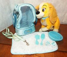 Lady and the Tramp Disney Pet dog Carrier with accessories soft plush figure toy