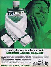 PUBLICITE ADVERTISING 114 1964 MENNEN après rasage