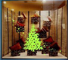 Large Christmas Tree & Star Show Window Shopwindow Wall Art Decoration Sticker