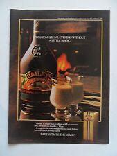 1982 Print Ad Baileys Irish Cream Liqueur ~ Not a Special Evening Without Magic