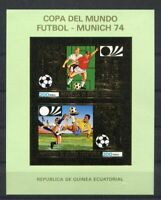 S5150) Guinea Ecuatorial 1974 MNH Wc Football-cm Football S/S GOLD Imperf