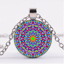 """Necklace women mom Free $10 Gift Abstract Art Pride Rainbow pendant Silver 20"""""""
