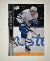 2020-21 UD Series 1 Clear Cut #167 Alex Kerfoot - Toronto Maple Leafs