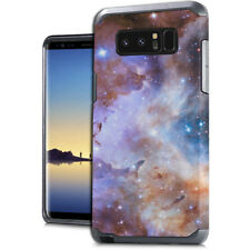 For Samsung Galaxy Note 8 - Hard Hybrid Impact Armor Blue Black Sky Stardust
