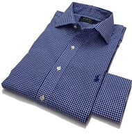 Polo Ralph Lauren Mens Shirt  Blue White Checked 15 / 38 100% Cotton