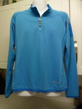 SHERPA ADVENTURE GEAR DIKILA WOMENS LARGE 1/4 ZIP MICRO FLEECE BLUE BASE LAYER