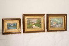 3 Wunderschöne Gemälde / Landschaft / Tolle Holzrahmen / Bilder Serie / Landscha