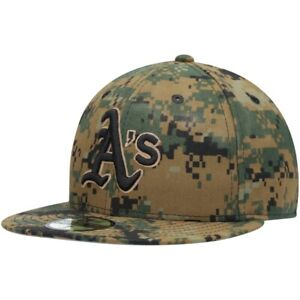 Oakland Athletics A's Hat New Era 59Fifty 5950 Cap Fitted 7-1/8 7-7/8 Army Camo