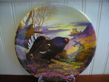 1988 Royal Grafton Fine Bone China Black Grouse Bird Plate by Derek Braithwaite