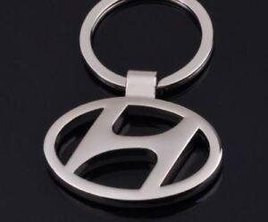 Hyundai Badge Logo Stainless Steel Keychain Keyring