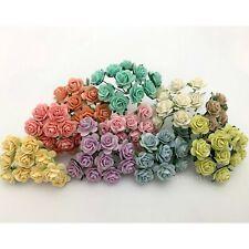 "5/8"" or1.5cm Pastel Open Paper Flower Wedding Scrapbook Baby Shower Rose R8-426"