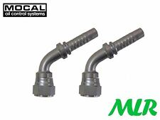 "MOCAL HEF47-8 45° -8 OIL COOLER HOSE PIPE FITTINGS UNIONS FOR 1/2"" HOSE BKC2"