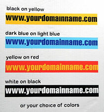 Domain name sign - 300 x 30 mm on background - choice of style and color
