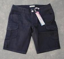 HANG TEN Cargo Bermuda Shorts Daydream Slim Stretch Denim Size 0 NWT