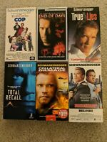 Lot of 6 Arnold Schwarzenegger Classic VHS Tapes