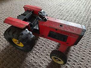 Vintage Tonka  Red Tractor Pressed Steel 1970s Metal