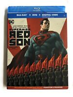 Superman Red Son Blu-ray + DVD + Digital + SLIPCOVER FACTORY SEALED