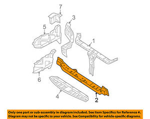 HYUNDAI OEM 03-05 Tiburon Radiator Core Support-Lower Tie Bar Bracket 641602C000