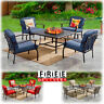 Outdoor Patio Dining Furniture Set 5 Piece Table Chairs Lawn Garden Fire Pit Set
