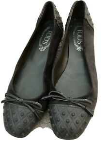 Tods 37.5 Suede and Leather Driving Shoes