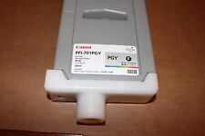 GENUINE USED CANON PFI-PGY INK TANK (PHOTO GRAY) DATE OF EXP 11/2011
