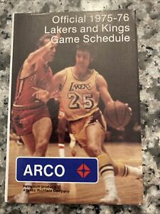 1985-1976 Los Angeles Kings/Los Angeles Lakers NHL/NBA Combo Pocket Schedule