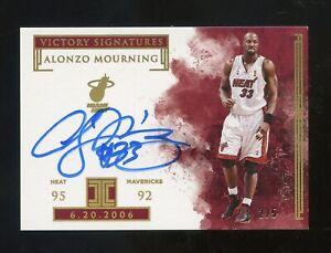 2018-19 Panini Impeccable Victory Alonzo Mourning Signed AUTO 2/5 Miami Heat