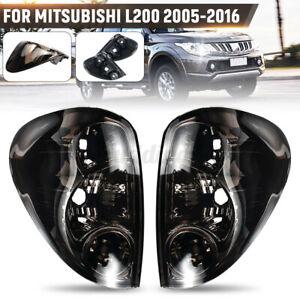 Pair Smoked Rear Tail Light Lamp For Mitsubishi Triton Colt ML MN Ute 2006-2015