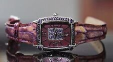NEW JUDITH RIPKA STAINLESS STEEL MOTHER of PEARL MOP Diamonique MONACO WATCH NIB