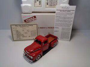 "DANBURY MINT 1951 FORD F-1 1/2 TON PICKUP TRUCK W/DOCS & BOX CLEAN USED ""ISSUE"""