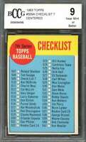 Checklist Card 1963 Topps #509A Unmarked BGS BCCG 9