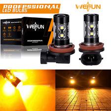 2pcs 50W H11 High Power 3000K Amber/Orange LED Fog Driving Lights Bulbs Hba