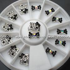 3D Nail Art Deco Hello Kitty & Bow Alloy Jewelry Glitter Rhinestone+Wheel #EB022