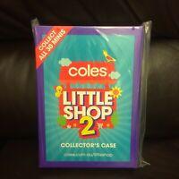 COLES LITTLE SHOP MINI COLLECTABLES 2=%=FOLDER/CASE/ALBUM ONLY-ORIGINAL PLASTIC