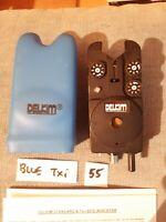 DELKIM Txi BLUE VGC +BLUE HARD CASE  'O' Ring + INSTRUCTIONS SHEET CARP FISHING