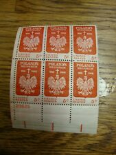 "SCOTT  #1313 ""POLAND'S MILLENNIUM""  Block of 6 - 5 cents - 1966"