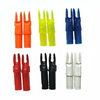 30pcs Archery Arrow Nocks Insert Tips Tails Plastic Nock ID6.2mm Arrow Shaft