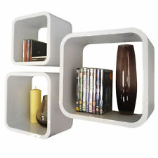 Librerías y estanterías estantes de plástico para el hogar de color principal blanco