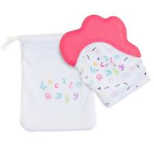 Becalm Baby® Teething Mitten Mitt Glove Silicone Teether Happy Hand - Pink Pop